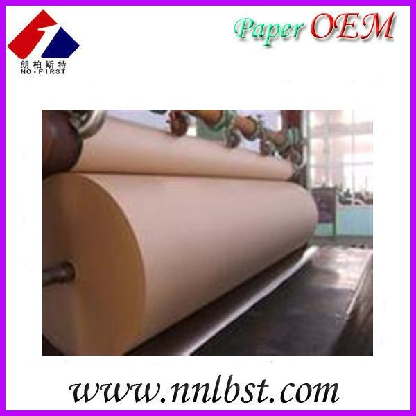 Wholesale brown kraft paper roll suppliers kraft paper roll/pe coated paper/Recycled kraft paper roll