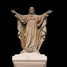 White color Christian life size Polyresin jesus statue