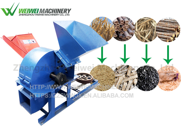 Weiwei wood crusher sawdust manufacturers