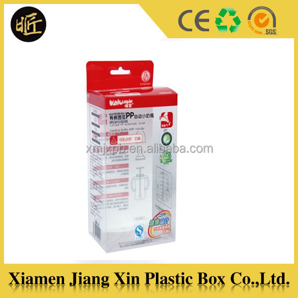 Clear PET packaging box for nursing bottle