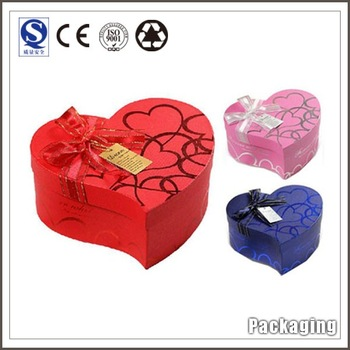Attracted Design Lovely Customized Printing Logo Round Polygon Heart-Shaped Gift Packaging Boxes