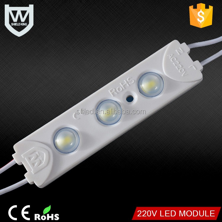 High quality 5730 3 leds led injection module dc12v IP67 1.5w power with lens led module for advertising sign board