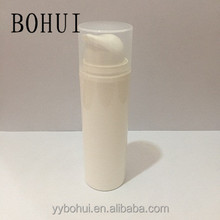 15ml 30ml 50ml skin care airless bottle for cream, lotion empty cosmetic airless bottle with push screw pump