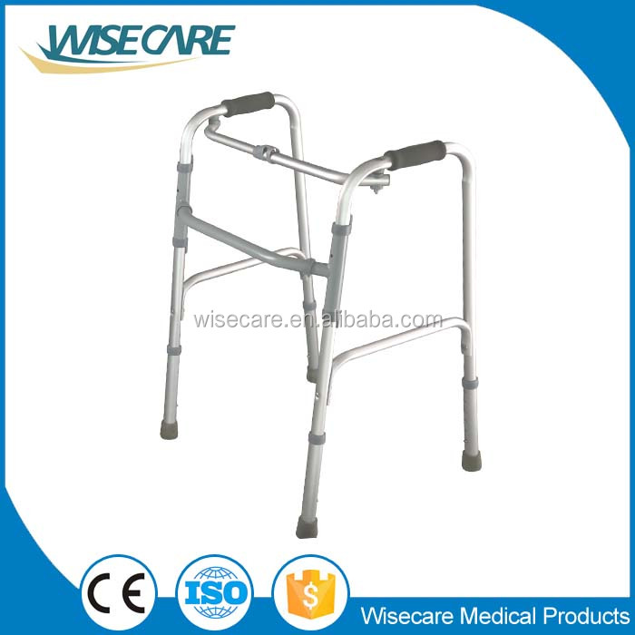 High quality Aluminum one button Folding Walker for Elderly
