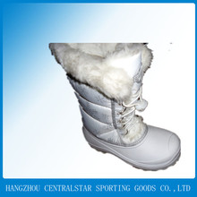 white snow boot women's furry snow boots wholesale