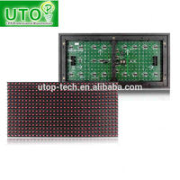 Semioutdoor/indoor/outdoor single red color led display module P10 320mm*160mm Best Quality