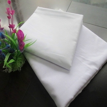 high quality polycotton bleached white shirt fabric