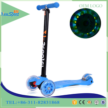 Alibaba wholesale steel materail kids scooter/custom folding children scooter for kicking/comfortable widen pedal foot scooter