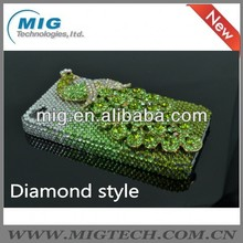 2013 New Product Crystal Plastic Peacock diamonds hard back case for iphone 4 4S 5 5S, for iphone case