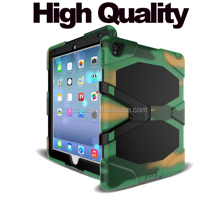 "Fashion Camouflage Silicone Stand Case for ipad Pro 9.7"",Shockproof Waterproof Design Case for Ipad Pro 9.7"""