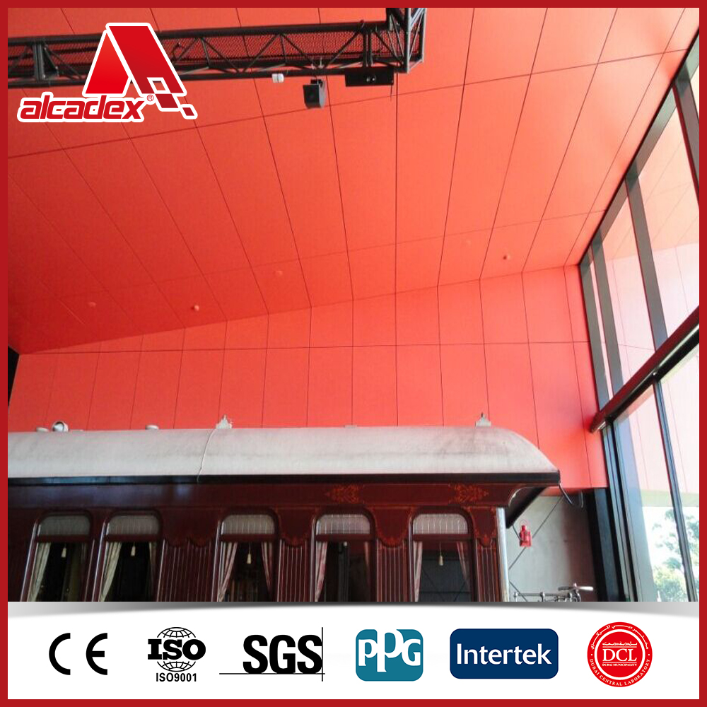 Interior wall decoration aluminium sandwich panel plastic for Aluminium decoration