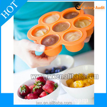 New product food grade custom silicone ice cube tray with cover storge trays