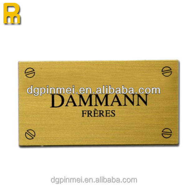 New products acid etched metal nameplate