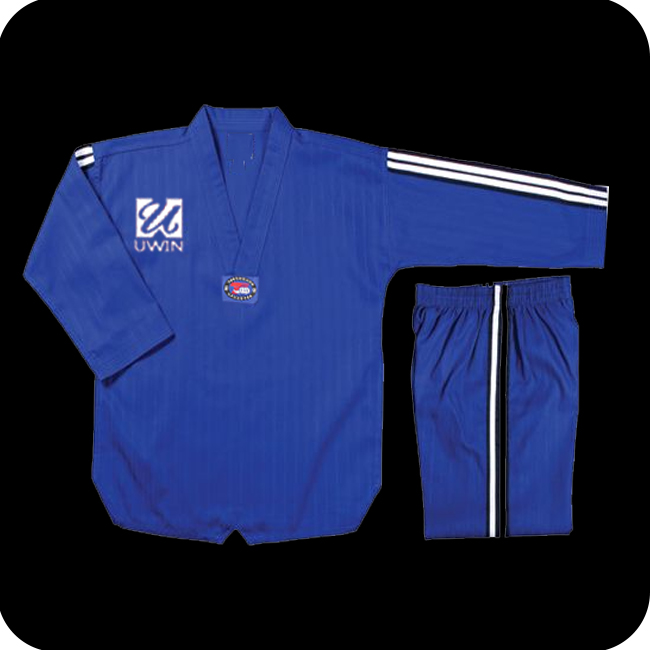 blue high quality taekwondo uniform taekwondo suits
