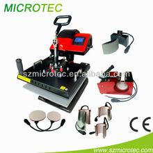 combo machine, mug, plate,cap, t-shirt printing machine, cheap used t shirt heat press machine