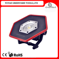 10W COB rechargeable outdoor led flood light /work light with stand