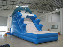 dolphin inflatable slide with water pool