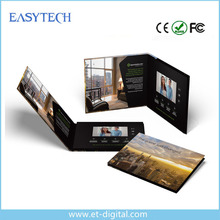 Upscale 4.3inch video brochure in Artificial crafts,lcd video brochure for real estate advertising