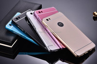 2015 High Quality Metal Aluminum Frame Case + Acrylic Back Cover Case For Huawei P8 Lite 5.0inch