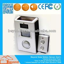 Low Voltage Motion Sensor Solar Power Motion Detection Alarm with Remote Control