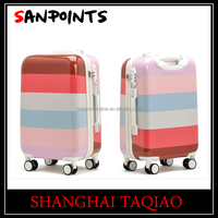 Colourful quality pc+abs luggage trolley case
