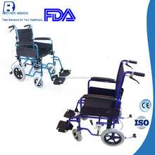 Aluminum folding lightweight transit wheelchair
