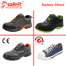 PU outsole OEM High quality leather Work steel toe black brand name safety shoes