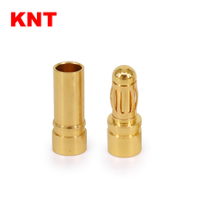 KNT female male 3.5mm Gold Plated Bullet Banana Connectors Battery ESC Plug