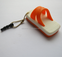 Creative slipper shape silicone mobile phone dust plug