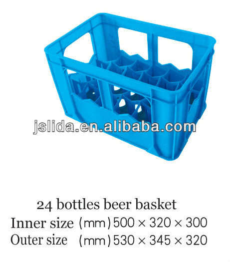 24 bottles plastic beer bottle box/crate