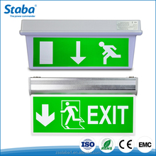 Public places LED photoluminescent rechargeable fire emergency smd lighting escape slide exit sign