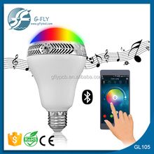 new products 2016 bluetooth speaker led bulb music light 5w e27