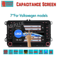 Favorable price 7 inch car radio for vw models with wince system 6.0 capacitive screen