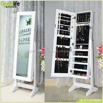 Cheap hot selling diy wooden jewelry armoire