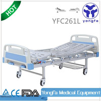 YFC261L two functions manual adjustable medical hospital rubber bed sheets a21