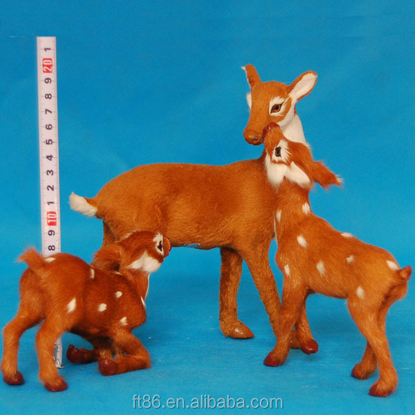 realistic artificial furry wholesale plush bulk plastic deer toy