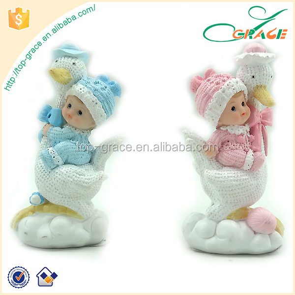 Newborn baby souvenirs kids bird carrier on stork shower decoration toy