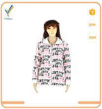 2017 New Style Factory Wholesale Coral Fleece Bathrobe Zipper Nightgown