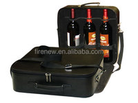Faux Leather Wine Carrier for Three Bottles, Champagne Bottle Carrier
