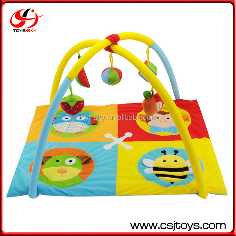 Multi Purpose Lovely Cartoon Design Baby Games Rug China Soft Mat Toys Activity Carpet Soft Kids Play Mat