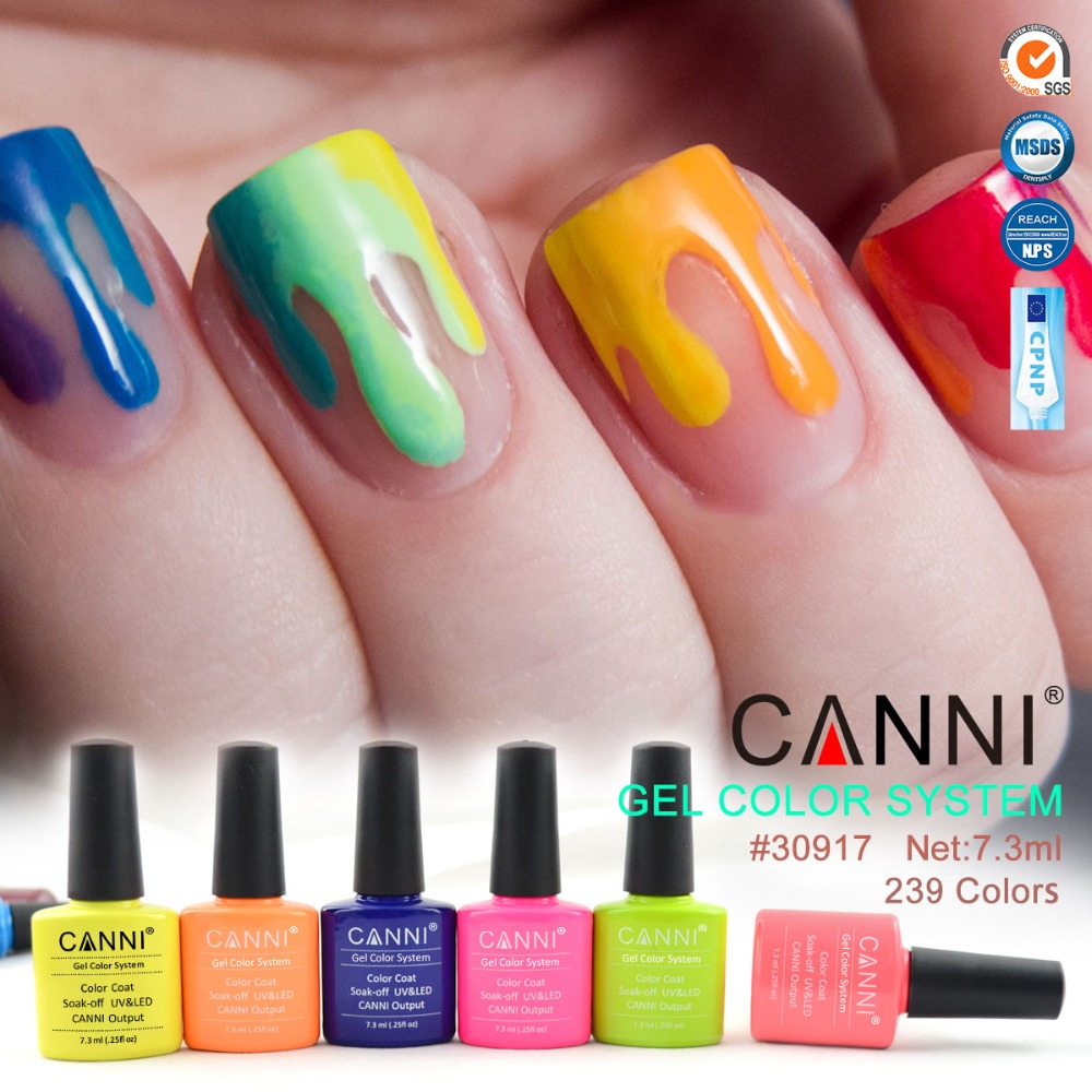 30917H Free Samples With Free Shipping Hot Sale 7.3ml Soak Off CANNI Color UV Gel Color Gel Nail Polish