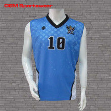 Good quality nice cheap sky blue basketball jersey for men