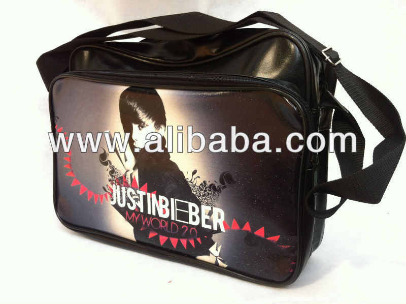 JUSTIN BIEBER Shoulder Messenger Gym Sport School College Bag