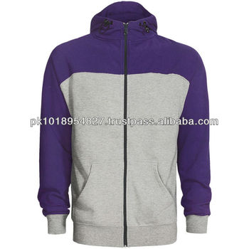 Purple with grey 2013 New Style men's hoodies Sweatshirts in Cotton Botton style available in all colors and sizes