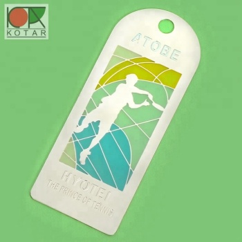 bespoke promotional transparent enamel metal bookmark