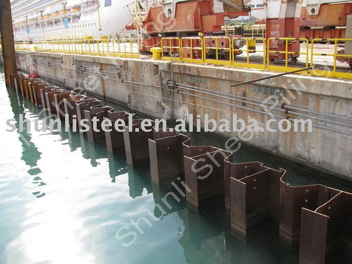 Steel Sheet Pile Retaining Wall
