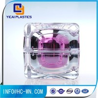 Peraonal Care Usage Stock Crystal Square Acrylic Cosmetic Jar