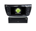 Quad core!car dvd with mirror link/DVR/TPMS/OBD2 for 6.2 inch touch screen quad core 6.0 Android system Fiat Doblo