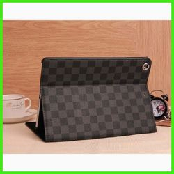 iBest Top level safe grid leather case for ipad air,Tablet Pc Case