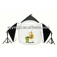 Photo Studio Table Top Lighting Kit Square Tent and softboxes, Easy to Carry